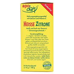 Apoday Heisse Zitrone mit Vitamin C und Calcium 10x10 Gramm - Rechte Seite