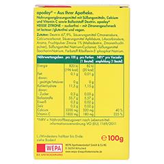 Apoday Heisse Zitrone mit Vitamin C und Calcium 10x10 Gramm - Rückseite