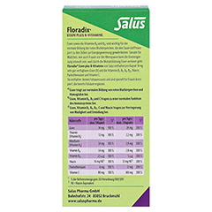 Floradix Eisen plus B Vitamine Kapseln 40 Stück - Rückseite