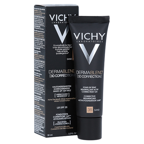 Vichy Dermablend 3D Correction Make-up Fluid Nr. 35 Sand 30 Milliliter
