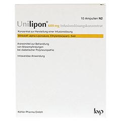 UNILIPON 600 Infusionslösungskonzentrat 1x10 Stück N2 - Vorderseite