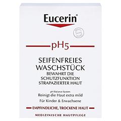 Eucerin pH5 Seifenfreies Waschstück empfindliche Haut 100 Gramm - Vorderseite