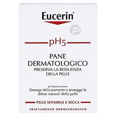 Eucerin pH5 Seifenfreies Waschstück empfindliche Haut 100 Gramm - Rückseite