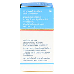 BIOCHEMIE DHU 2 Calcium phosphoricum D 12 Globuli 10 Gramm N1 - Linke Seite