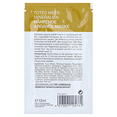 DERMASEL Maske Arganöl 12 Milliliter - Rückseite