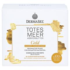 DERMASEL Totes Meer Körperbutter Gold 200 Milliliter - Vorderseite