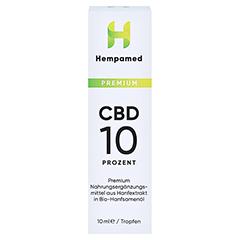 HEMPAMED Premium CBD 10% Tropfen 10 Milliliter - Vorderseite