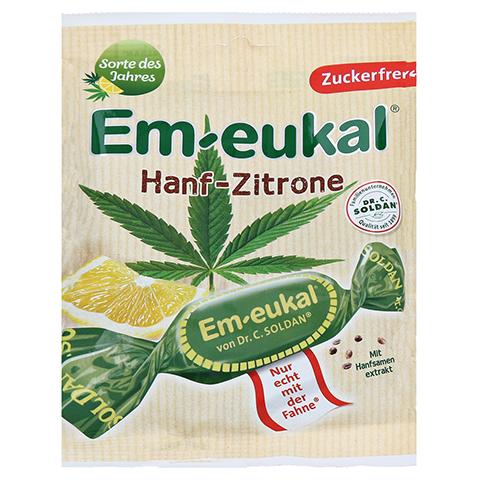 EM EUKAL Bonbons Hanf-Zitrone zuckerfrei 75 Gramm