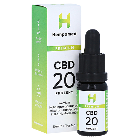HEMPAMED Premium CBD 20% Tropfen 10 Milliliter