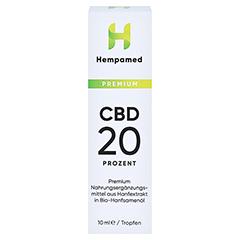 HEMPAMED Premium CBD 20% Tropfen 10 Milliliter - Vorderseite