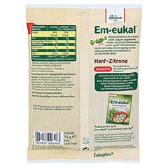 EM EUKAL Bonbons Hanf-Zitrone zuckerfrei 75 Gramm - Rückseite