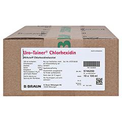 URO TAINER Chlorhexidin Lösung 10x100 Milliliter N2 - Vorderseite