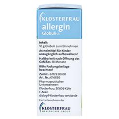 KLOSTERFRAU Allergin Globuli 10 Gramm - Linke Seite