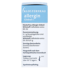 KLOSTERFRAU Allergin Globuli 10 Gramm - Rechte Seite