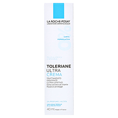 La Roche-Posay Toleriane Ultra Tagespflege + gratis La Roche Posay Thermalwasser 50ml 40 Milliliter - Rückseite