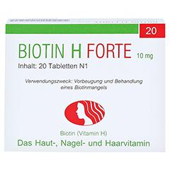 Biotin H forte 10mg 20 Stück N1 - Vorderseite