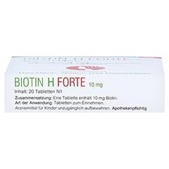 Biotin H forte 10mg 20 Stück N1 - Unterseite