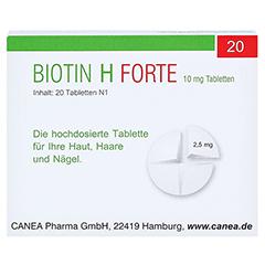 Biotin H forte 10mg 20 Stück N1 - Rückseite