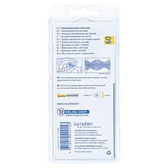 CURAPROX prime plus 09 5 Bürsten+1 Halter gelb 1 Packung - Rückseite