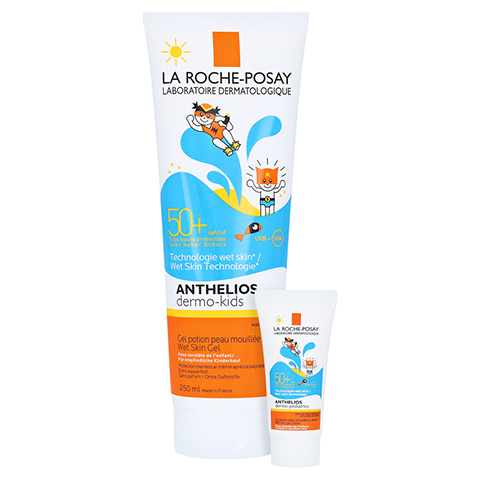 La Roche-Posay Anthelios De.Kids LSF 50+ Wet Skin Gel + gratis La Roche-Posay Anthelios 50+ Kids 250 Milliliter