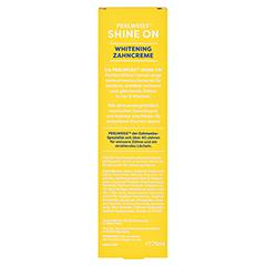 PERLWEISS Zahncreme Shine On Ananas 75 Milliliter - Rückseite