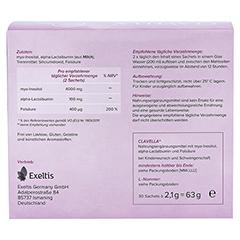 CLAVELLA premium Beutel 30x2.1 Gramm - Rückseite
