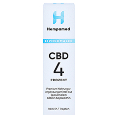 HEMPAMED 4% CBD liposomal Tropfen 10 Milliliter - Vorderseite