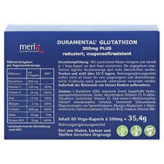 DURAMENTAL Glutathion 300 mg PLUS magensaftr.Kaps. 60 Stück - Rückseite
