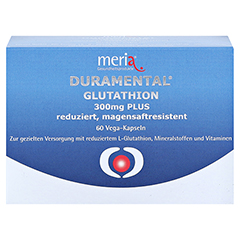 DURAMENTAL Glutathion 300 mg PLUS magensaftr.Kaps. 60 Stück - Vorderseite