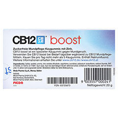 CB12 Boost Kaugummi 10 Stück - Rückseite
