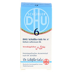BIOCHEMIE DHU 6 Kalium sulfuricum D 6 Globuli 10 Gramm N1 - Vorderseite