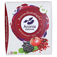 BIO Aronia + Granatapfel 100% Direktsaft 3 Liter - Vorderseite