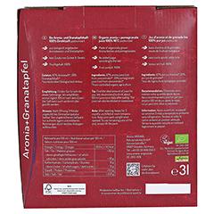 BIO Aronia + Granatapfel 100% Direktsaft 3 Liter - Rückseite