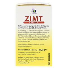 ZIMT KAPSELN 500 mg+Vitamin C+E 120 Stück - Rechte Seite