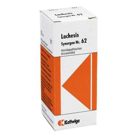 SYNERGON KOMPLEX 62 Lachesis Tropfen 20 Milliliter
