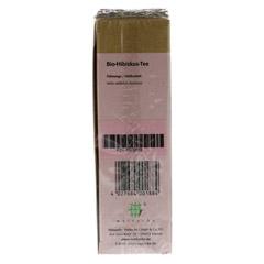 HIBISKUSTEE Bio Filterbeutel 25 Stück - Oberseite