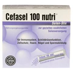 CEFASEL 100 nutri Selen Stix Pellets 20 Stück - Rückseite