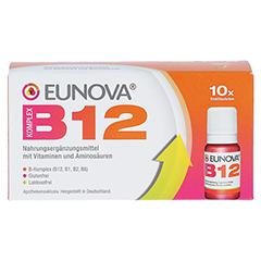 EUNOVA B12 Komplex Trinkfläschchen 10x10 Milliliter - Vorderseite