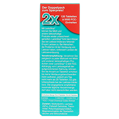 LACTOSTOP 5.500 FCC Tabletten Klickspender Dop.Pa. 2x120 Stück - Rückseite