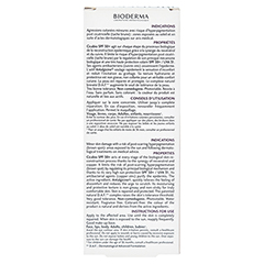 BIODERMA Cicabio Wundpflegecreme SPF 50+ 30 Milliliter - Rückseite