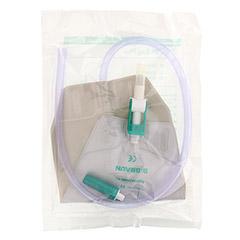 URIN BEINBEUTEL 500 ml Antirefluxvent.60 cm kürzb. 1 Stück - Rückseite