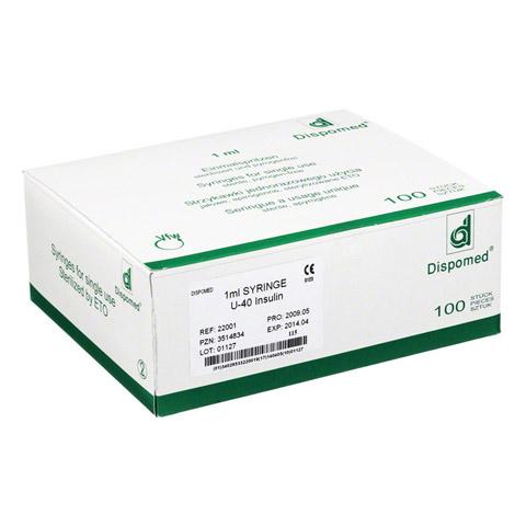 DISPOMED Insulinspritze 1 ml U40 o.Kan. 100 St�ck