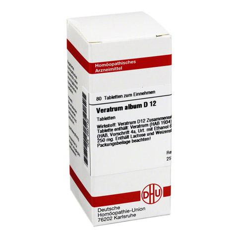 VERATRUM ALBUM D 12 Tabletten 80 St�ck N1