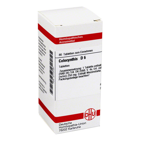 COLOCYNTHIS D 6 Tabletten 80 St�ck N1