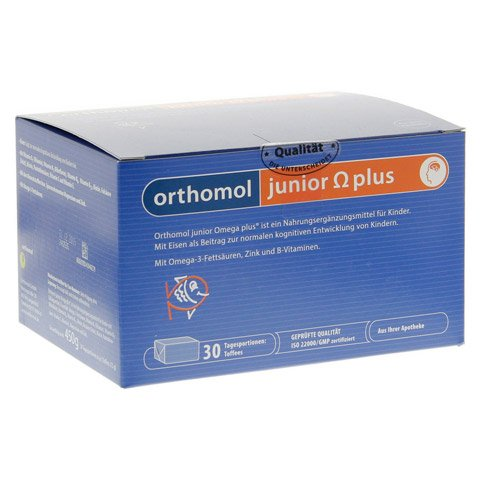 ORTHOMOL Junior Omega plus Kaudragees 30 Stück