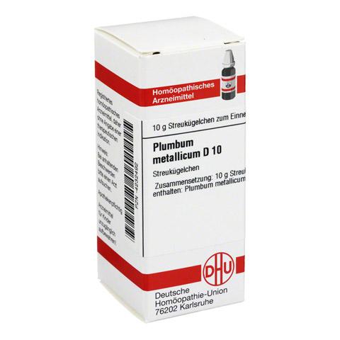 PLUMBUM METALLICUM D 10 Globuli 10 Gramm N1