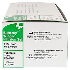 BUTTERFLY Infusionszubehör 21 G grün CPC 50 Stück - Linke Seite