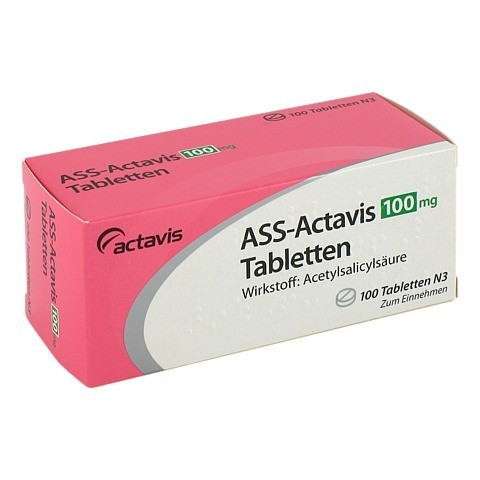 ASS Actavis 100 mg Tabletten 100 Stück N3