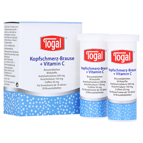 Togal Kopfschmerz-Brause+Vitamin C 20 Stück
