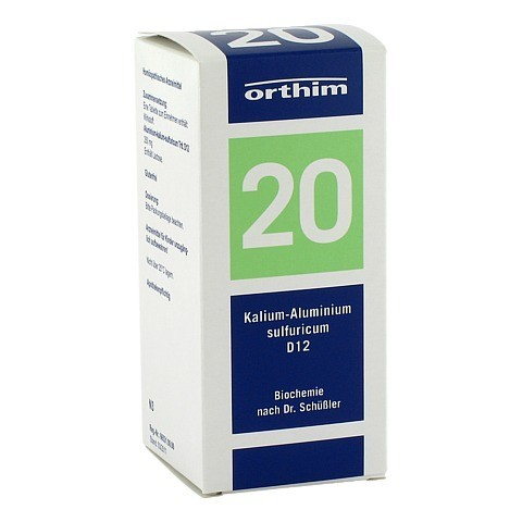 BIOCHEMIE Orthim 20 Kalium alumin.sulfur.D 12 Tab. 400 Stück N3